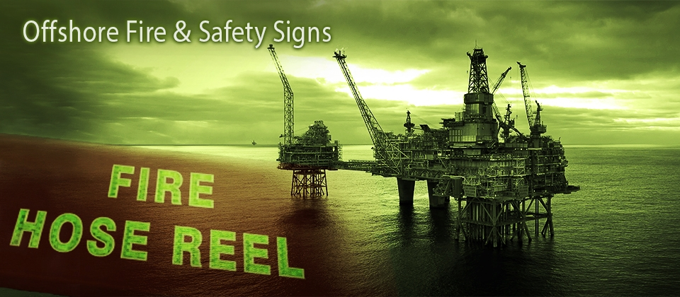 offshore, fire safety signs